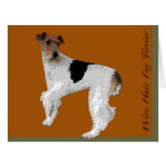Wire Hair Fox Terrier Big Greeting Card