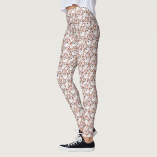 Wire Hair Fox Terrier Dog Lovers Fun Pattern Leggings