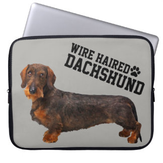 Wire Haired Dachshund Illustrated Laptop Sleeve