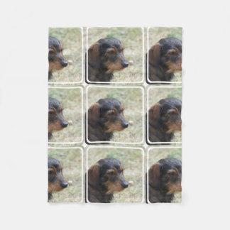 Wire Haired Daschund Dog Fleece Blanket