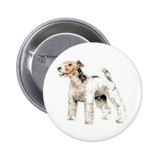 Wire Haired Fox Terrier Pinback Button
