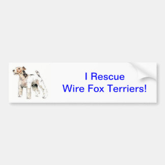 Wire Haired Fox Terrier Bumper Sticker