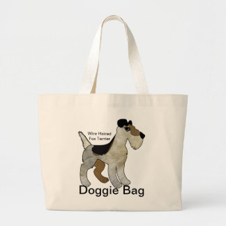 Wire Haired Fox Terrier Doggie Bag Jumbo Tote Bag