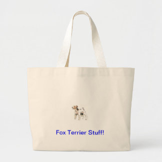 Wire Haired Fox Terrier Jumbo Tote Bag