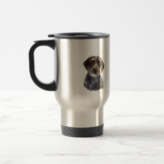 Wire Haired Pointer - head portrait Travel Mug