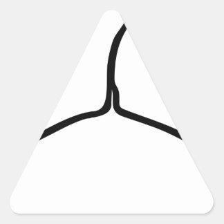 Wire Hanger Triangle Sticker