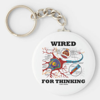 Wired For Thinking (Neuron Synapse) Key Chains