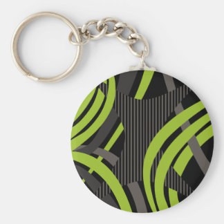 Wired Green Tote Bag Basic Round Button Key Ring