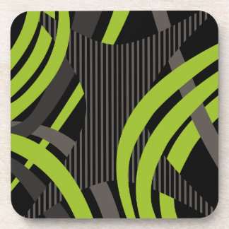 Wired Green Tote Bag Coaster