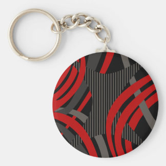 Wired Red Tote Bag Basic Round Button Key Ring