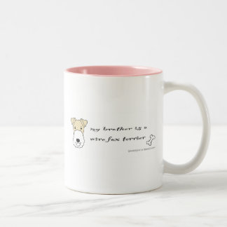 WireFoxTerrierBrotherYellow Two-Tone Coffee Mug