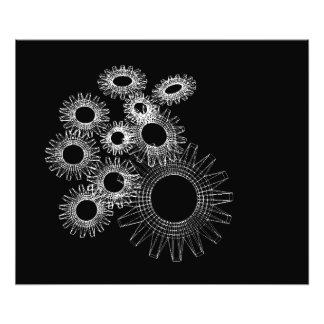 Wireframe, skeleton three-dimensional model photo