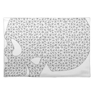 Wireframe Skull Placemat