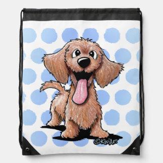 Wirehaired Dachshund KiniArt Drawstring Bag