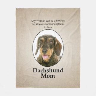 Wirehaired Dachshund Mom Fleece Blanket