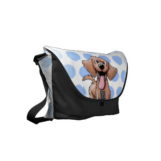 Wirehaired Doxie Small Messenger Bag
