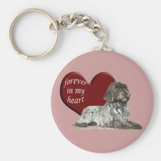 Wirehaired Pointer Key Ring