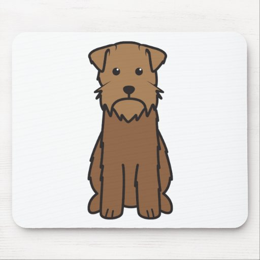 Wirehaired Pointing Griffon Dog Cartoon Mouse Pads