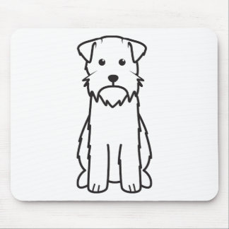 Wirehaired Pointing Griffon Dog Cartoon Mousepads