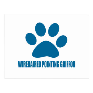 WIREHAIRED POINTING GRIFFON DOG DESIGNS POSTCARD
