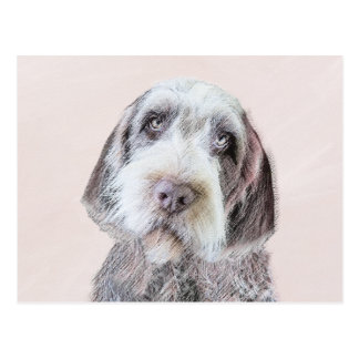 Wirehaired Pointing Griffon Painting - Dog Art Postcard