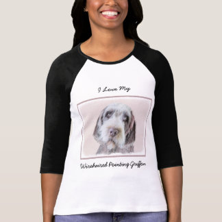 Wirehaired Pointing Griffon Painting - Dog Art T-Shirt
