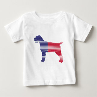 Wirehaired Pointing Griffon Patriotic Dog Red Blue Baby T-Shirt