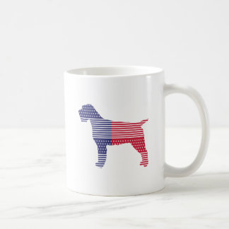 Wirehaired Pointing Griffon Patriotic Dog Red Blue Coffee Mug