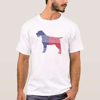 Wirehaired Pointing Griffon Patriotic Dog Red Blue T-Shirt