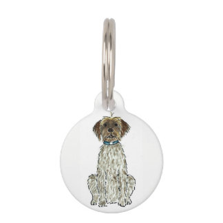 Wirehaired Pointing Griffon Pet ID Tag