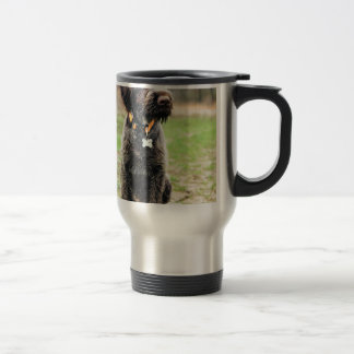 Wirehaired pointing Griffon puppy Travel Mug