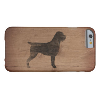 Wirehaired Pointing Griffon Silhouette Rustic Barely There iPhone 6 Case