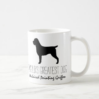 Wirehaired Pointing Griffon Silhouette with Text Coffee Mug