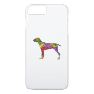 Wirehaired Slovakian Pointer in watercolor-2 iPhone 8 Plus/7 Plus Case