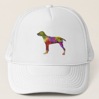 Wirehaired Slovakian Pointer in watercolor-2 Trucker Hat