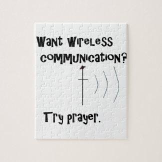 Wireless Communication Prayer Jigsaw Puzzle