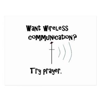 Wireless Communication Prayer Postcard