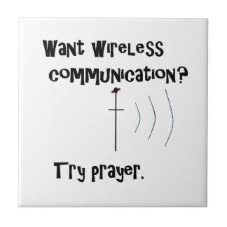 Wireless Communication Prayer Tile