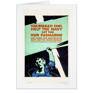 Wireless Fans, Help the Navy (US02299) Greeting Card
