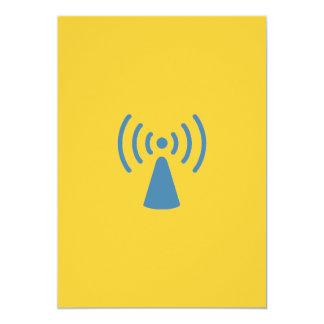 Wireless Invitaion 13 Cm X 18 Cm Invitation Card