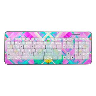 Wireless Keyboard Colourful digital art G473