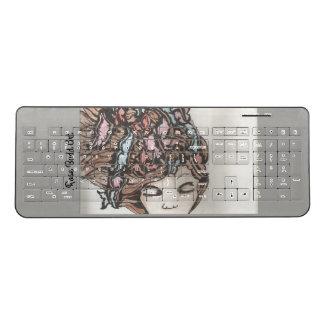 wireless keyboard grey