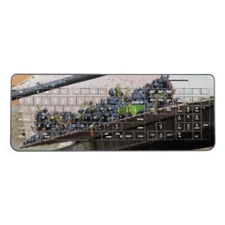 Wireless Keyboard--Tuscan Grape Harvest Wireless Keyboard