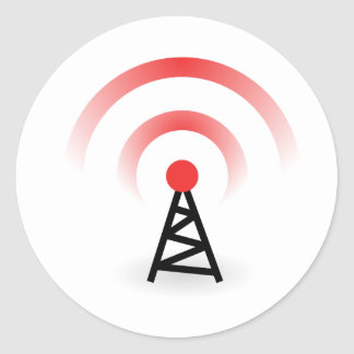 Wireless Network Classic Round Sticker