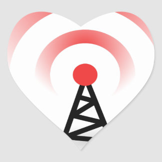 Wireless Network Heart Sticker