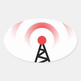 Wireless Network Oval Sticker
