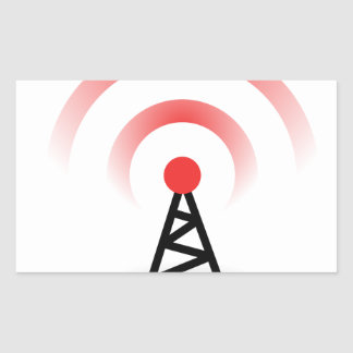 Wireless Network Rectangular Sticker