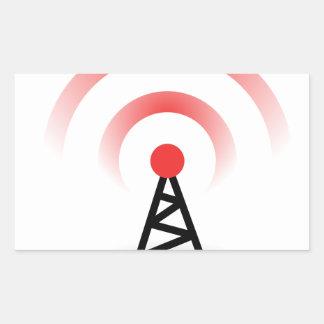 Wireless Network Rectangular Sticker