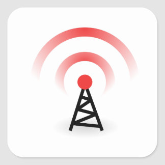 Wireless Network Square Sticker