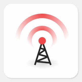 Wireless Network Square Sticker